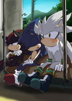 Train Ride. Silver's probably lookin' at Blaze on the other side of the train. X3 XD
