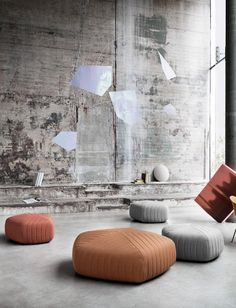 Muuto - Five pouf XL - poef groot Living Room Stools, Living Room Furniture, Home Furniture, Living Rooms, Dining Chairs, Eco Design, Low Chair, Muuto, Ball Chair