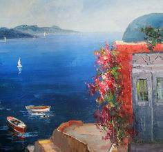 alldayschool: Οδυσσέας Ελύτης, Βαθύ γαλάζιο Greece, Painting, Art, Greece Country, Art Background, Painting Art, Paintings, Kunst, Drawings