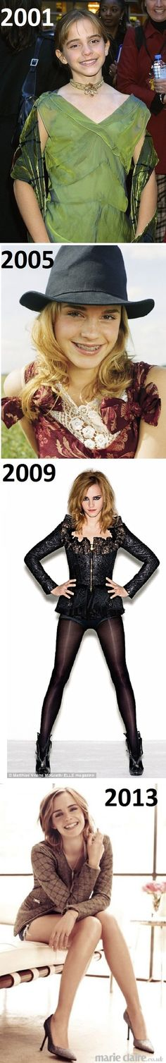 Evolution of Emma Watson - funny pictures - funny photos - funny images - funny pics - funny quotes - #lol #humor #funny