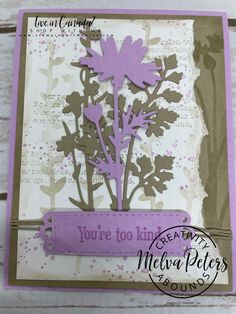 Meadow Flowers, Butterfly Flowers, Stampin Up Canada, Color Contour, Flower Cards, Pansies, Fun Projects, Card Stock, Colours