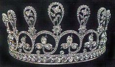 "Diamond Diadem of Marie Antoinette. Composed of nine graduated floral sprays of rose-cut diamonds. (Christie's DeBeers ""Ageless Diamond"" exhibit in 1959.)"