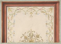 Design for a ceiling Jules-Edmond-Charles Lachaise,  French