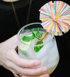 Start your party on a cool, authentic note with an icy pitcher of pisco sour, of course. The Peruvian national drink is light, crisp, and looks great when garnished with lime and fresh mint.