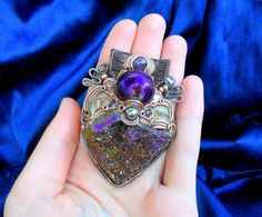 Sunset Whimsy  Titanium Druzy Rainbow Cluster by MultiverseWithin