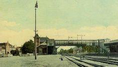 Oud Almelo, het oude station waar je, als je vanaf de voorkant van het station naar het perron wilde, je over de loopbrug moest.