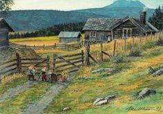 """""""De tre Bukkene bruse"""" Yule Goat, Norwegian Christmas, Cozy House, Art For Sale, Elves, Illustration, Woodland, Scandinavian, Whimsical"""