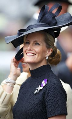 Sophie, Countess of Wessex hat details as she attends day three of Royal Ascot 2014