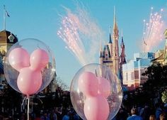 Image via We Heart It https://weheartit.com/entry/172184033 #balloon #disney #disneyland #fireworks #photography #pink