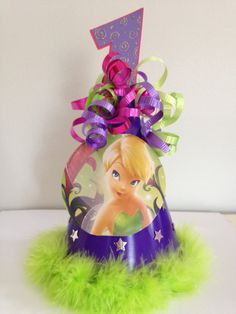 Disney Tinkerbell Party Hat Hot Pink Feather Boa by MiaSophias, $7.50