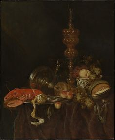 Abraham van Beyeren (Dutch, 1620/21–1690). Still Life with Lobster and Fruit, probably early 1650s. The Metropolitan Museum of Art, New York. Anonymous Gift, 1971 (1971.254)