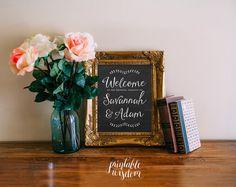 Wedding sign printable chalkboard customized by PrintableWisdom