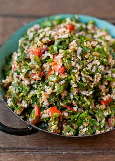 This Tabbouleh Salad is a refreshing and light side dish. And so easy to make!