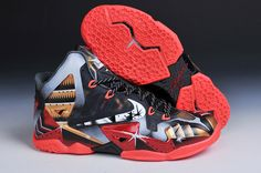 the best attitude 33175 7127e Nike LeBron 11 Mark 6 Ironman Customs Kd Shoes, Sock Shoes, Lebron 11,