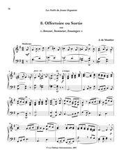 Partition , Offertoire ou Sortie sur «Amour, honneur, louanges», Les Noëls du Jeune Organiste