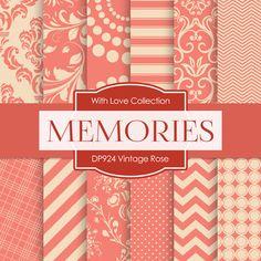 Vintage Rose Digital Paper DP924 - Digital Paper Shop - 1
