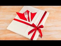 Kitchen Themed Gift Wrapping. A cookbook wrapped in a kitchen theme using Japanese wrapping methods. https://www.youtube.com/watch?v=Ybw44nGKtHc