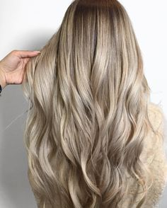 Check Out Our , 8 Best Champagne Hair Color Images In Champagne Blonde Hair Streaked with Brown, Melted Champagne Blonde Made with Redken Color Color by Xo Farhana. Medium Champagne Hair Color, Champagne Blonde Hair, Long Curly Hair, Long Hair Cuts, Curly Hair Styles, Hair Color Pictures, Dyed Blonde Hair, Glossy Hair, Corte Y Color