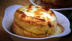 Twice-baked squash soufflés with cheese sauce recipe - BBC Food Cheese Souffle, Souffle Dish, Souffle Recipes, Baked Cheese, Cheese Sauce, Baked Squash, Fresh Milk, Melted Cheese, Tray Bakes
