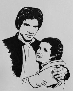 Han Solo and Leia Organa  Star Wars ❤❤❤ #StarWars #starwarsfanart  #hansolo #leiaorgana #fanartwork