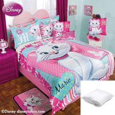 Disney Marie Flores 9-Pc Fleece Comforter Set Full Bundled with Two Pillow Protectors //Price: $158.32 & FREE Shipping //     #hashtag3