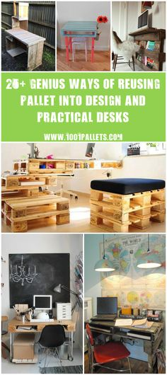 #BestOf, #Ideas, #Office, #PalletDesk, #RecycledPallet