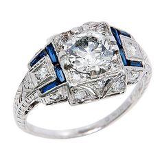 Platinum Diamond Engagement Ring, ca. 1920s