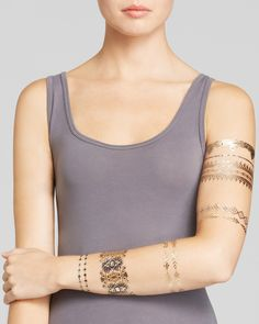 Lulu DK Indigo Temporary Jewelry Tattoos, Pack of 2 Jewelry & Accessories - Bloomingdale's Hipster Things, Jewel Tattoo, Indigo, Tank Man, Jewelry Accessories, Fancy, Jewels, Women, Fashion
