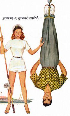 Detail from a 1952 Van Heusen sport shirt advertisement