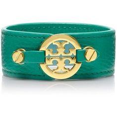 Tory Burch - Emerald Green Double Snap Bracelet