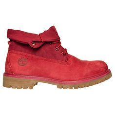 timberland roll top boots red