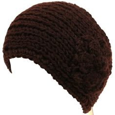 Adjustable Hand Knit Headwrap Headband Chunky Flower Wide Solid Brown. From #SK Hat shop. List Price: $39.95. Price: $18.95