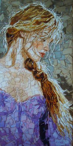 40 Most Intelligent Mosaic Art Works and Practices - Bored Art Mosaic Tile Art, Mosaic Artwork, Mosaic Diy, Mosaic Garden, Mosaic Crafts, Mosaic Projects, Mosaic Glass, Glass Art, Mosaics