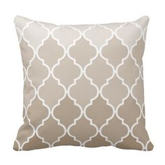 Trendy Chic Girly Cream Brown Quatrefoil Pattern Pillow Yes I can say you are on right site we just collected best shopping store that haveThis Deals Trendy Chic Girly Cream Brown Quatrefoil Pattern Pillow today easy to Shops & Purchase Online - transferred directly secure a...