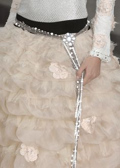 #chanel #fashion #couture #accessories #bridal #wedding #beading #belt
