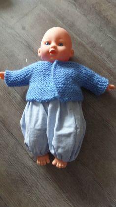 modele poupée 025 Kids Dress Patterns, Doll Patterns, Baby Dolls, Doll Clothes, Crochet, Sewing, Knitting, Chiffons, Maxime