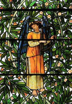 Detail of east window, Nun Monkton, Yorkshire - Morris & Co.