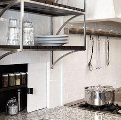 de Giulio Kitchen Design: Look - Hidden Pantry! Glossy white subway tiles backsplash with hidden spice rack . Home Kitchens, Kitchen Remodel, Kitchen Design, Built In Pantry, Pantry Shelving, Kitchen, Small Storage, Hidden Storage, Hidden Pantry