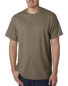 Gildan G5000 Adult Unisex Short Sleeve Heavy Cotton T-Shirt - Brown Savana G5000 3XL. Brand New. Size:3X-Large. Color: Brown.