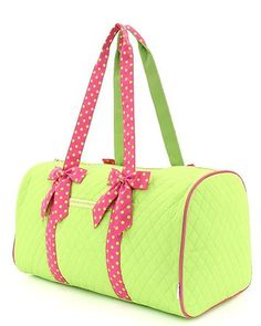 Day 11: Bags & Wallets. // Quilted Solid Large Duffle Bag Lime/Pink, starting at $20.