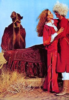 Jerry Hall - fashion in the Sahara, 70s Vintage Fashion, Seventies Fashion, 70s Fashion, Fall Fashion, Fashion Images, Fashion Models, Fashion Brands, Jerry Hall, Georgia May Jagger