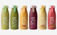 juicing bar,juicing on a budget,juicing for health,juicing weightloss Juice Packaging, Beverage Packaging, Bottle Packaging, Innocent Juice, Innocent Drinks, Juice Branding, Identity Branding, Visual Identity, Juicing For Health