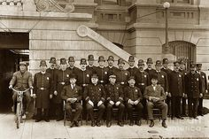 San Jose Police Department Circa 1900 Photograph by California Views Mr Pat Hathaway Archives