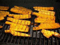 Grilled Butternut Squash - diced squash, added red/yellow bell peppers & jalapeño, marinated according to recipe, then grilled in foil packs.