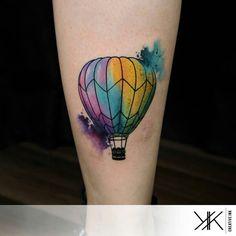 Koray Karagözler - Watercolor balloon tattoo