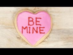 Make Your Own Conversation Heart Cookies