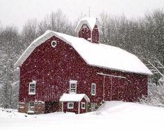 Lovely Winter Barn