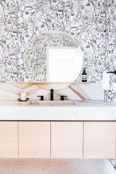 Modern Powder Room Design with Bold Glamour! - Anne Sage