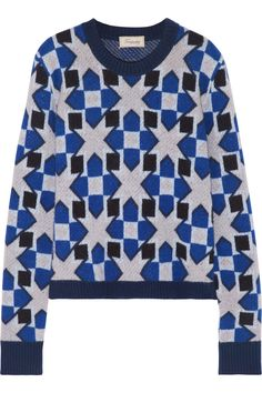 TEMPERLEY LONDON Lia jacquard-knit merino wool and cashmere-blend sweater £225 http://www.theoutnet.com/products/585358