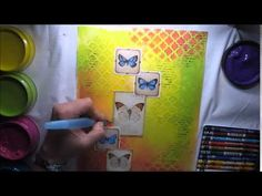 Dylusions Paints Mixed Media Journaling in Colour Tutorial #2 'Perfectly positive' - YouTube